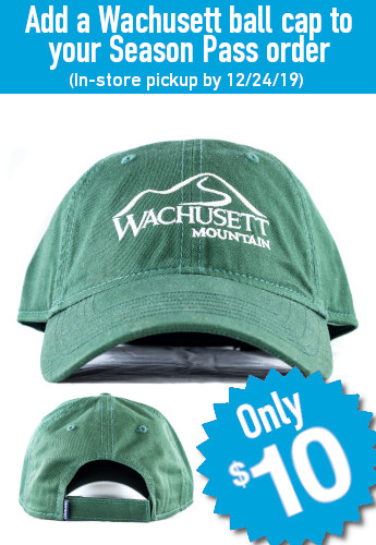 Add a Wachusett ball cap to your Season Pass order