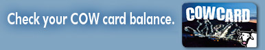 Check Cow Card Balance Icon