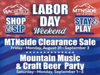 Labor Day Sale, Mountain Music & Craft Beer Party